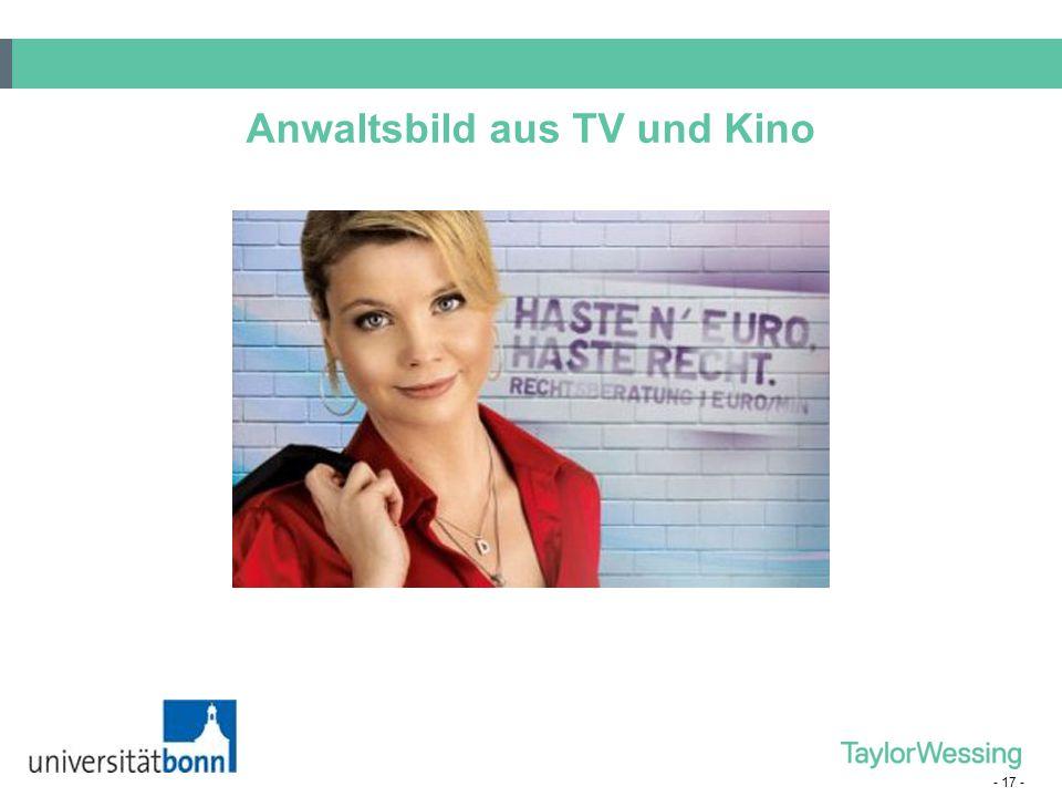 - 17 - Anwaltsbild aus TV und Kino