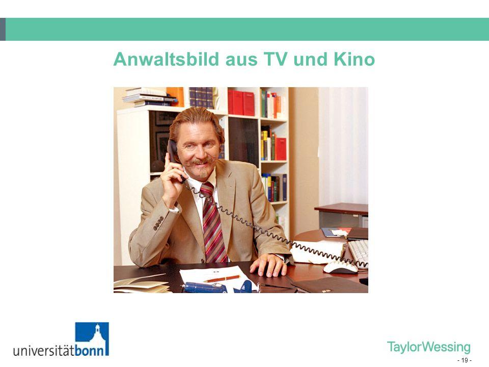 - 19 - Anwaltsbild aus TV und Kino
