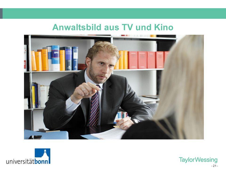- 21 - Anwaltsbild aus TV und Kino