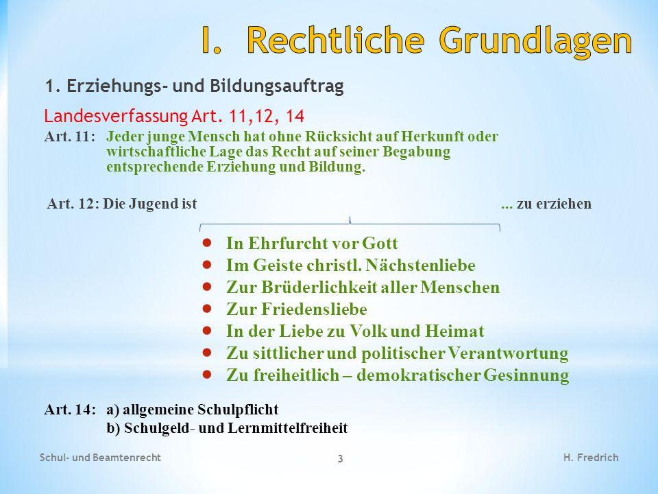 1.Erziehungs- und Bildungsauftrag Landesverfassung Art.