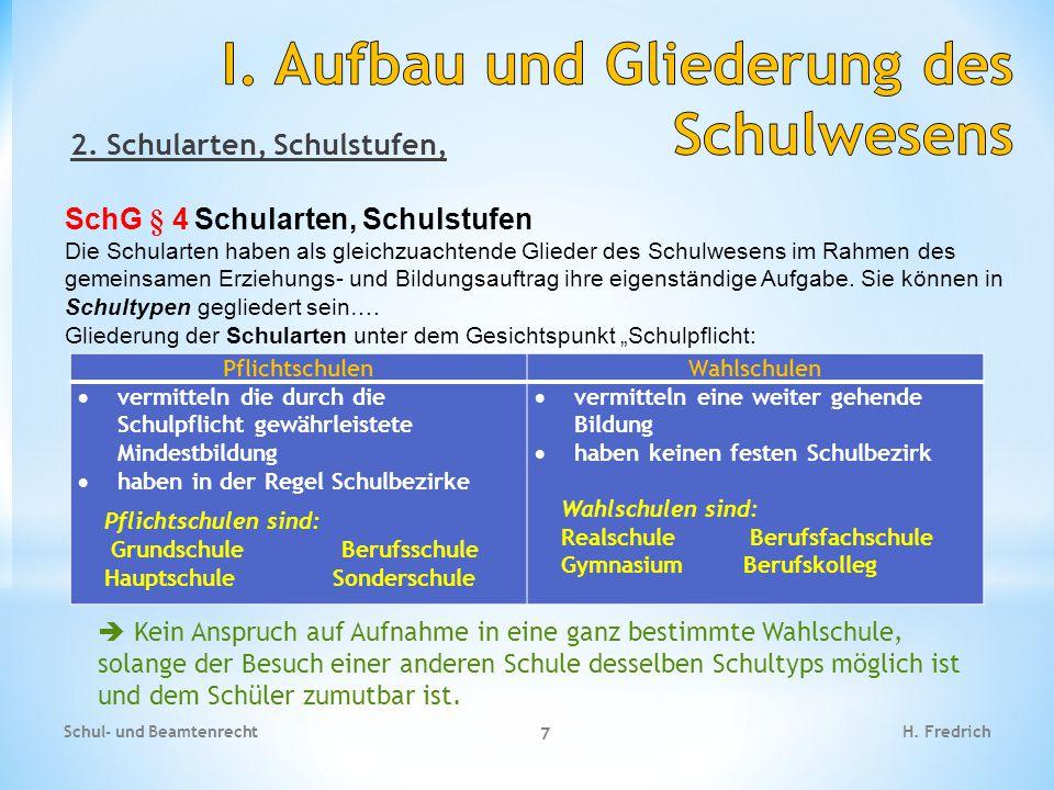 2. Schularten, Schulstufen, SchG § 4Schularten, Schulstufen Die Schularten haben als gleichzuachtende Glieder des Schulwesens im Rahmen des gemeinsame