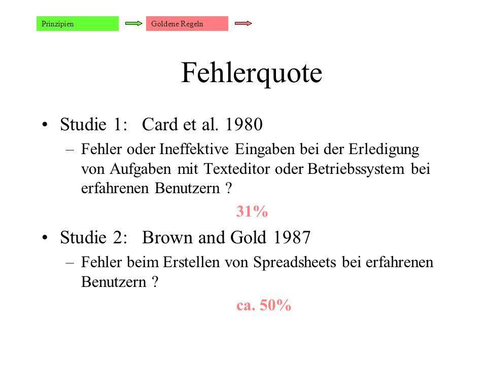 Fehlerquote Studie 1: Card et al.