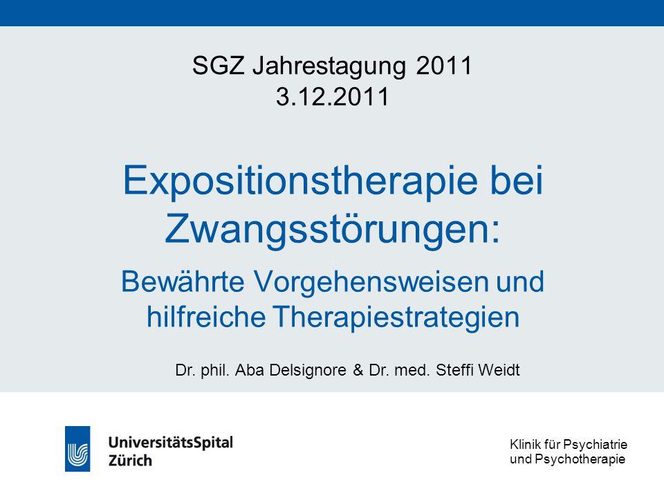 Expositionstherapie bei Zwangsstörungen:.