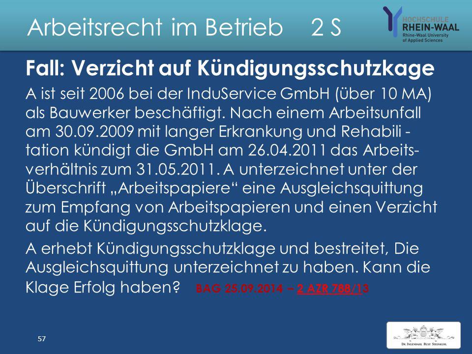 Arbeitsrecht im Betrieb 2 S Lösung: Sprachunkundiger Arbeitnehmer 1.Vertragsschluss: 1.Arbeitsvertragsangebot & Zugang, § 130 Abs.