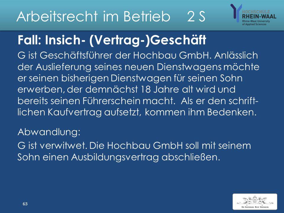 Arbeitsrecht im Betrieb 2 S Lösung: Schwangere Schwangerschaftsvertretung 1.Kündigung: Keine Zustimmung, § 9 I MuSchuG 2.