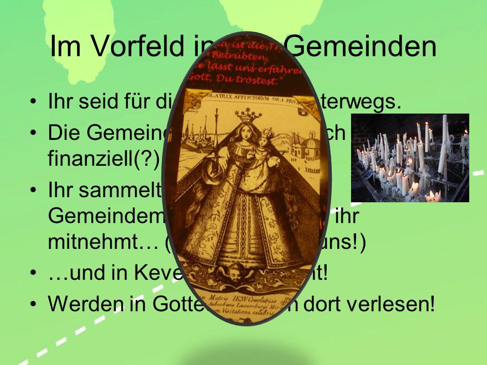 Abfahrt Von verschiedenen Punkten im Bistum Hildesheim Spätestens 14 Uhr.