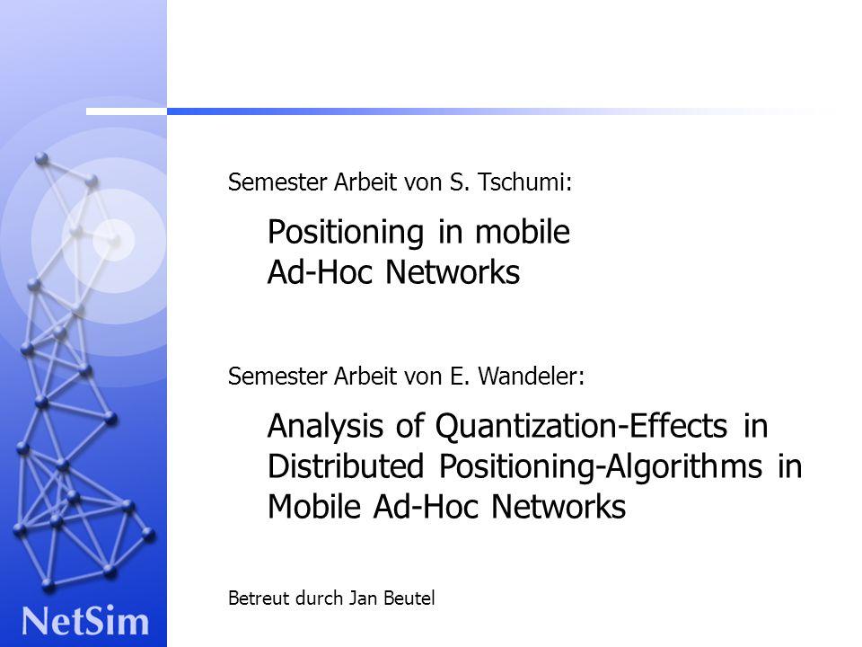 4. Juli 2002 Semester Arbeit von E. Wandeler und S. Tschumi12 Einfluss der Quantisierung