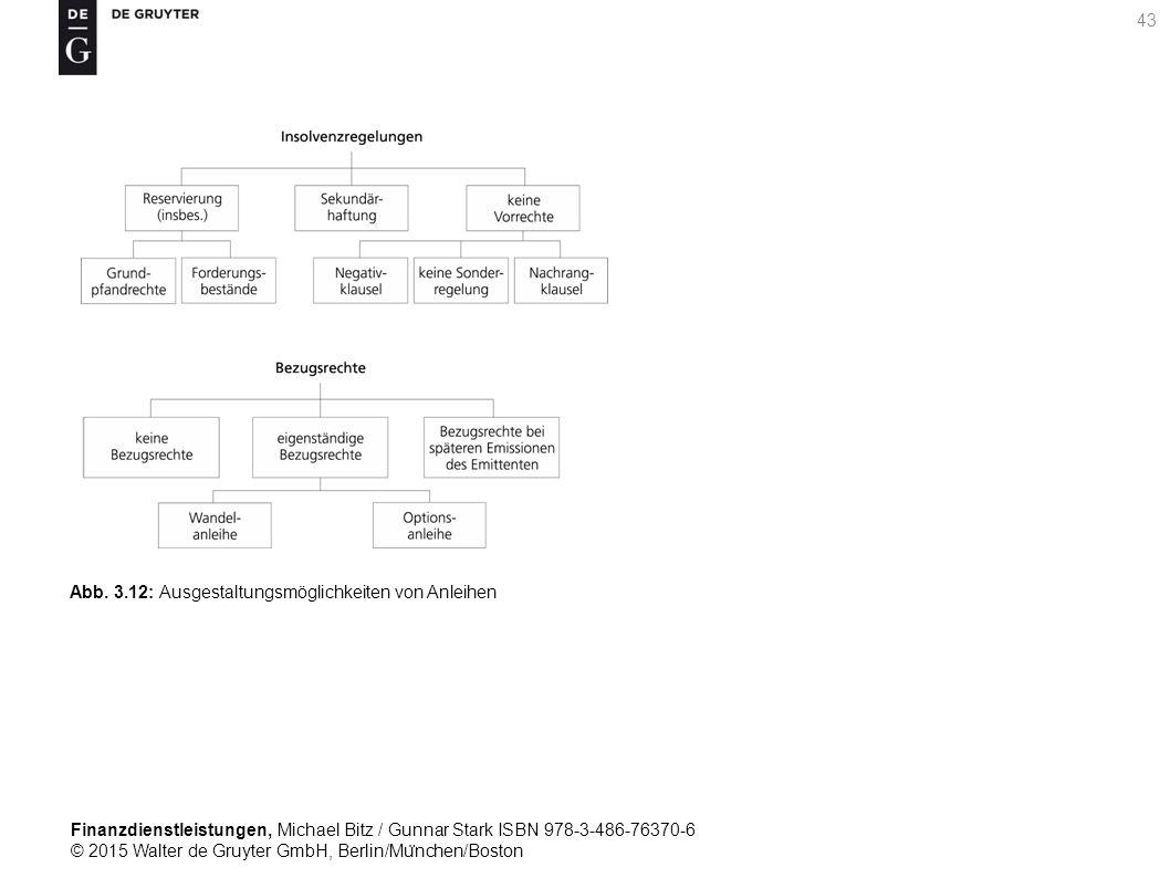 Finanzdienstleistungen, Michael Bitz / Gunnar Stark ISBN 978-3-486-76370-6 © 2015 Walter de Gruyter GmbH, Berlin/Mu ̈ nchen/Boston 43 Abb.