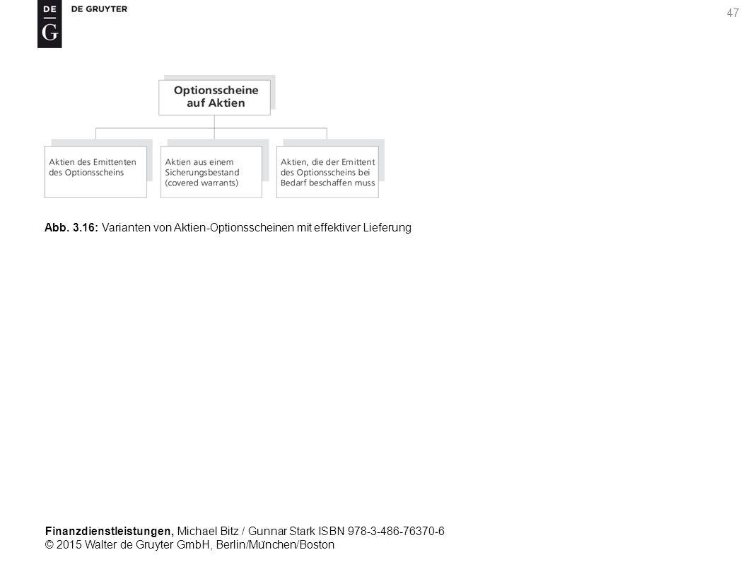 Finanzdienstleistungen, Michael Bitz / Gunnar Stark ISBN 978-3-486-76370-6 © 2015 Walter de Gruyter GmbH, Berlin/Mu ̈ nchen/Boston 47 Abb.