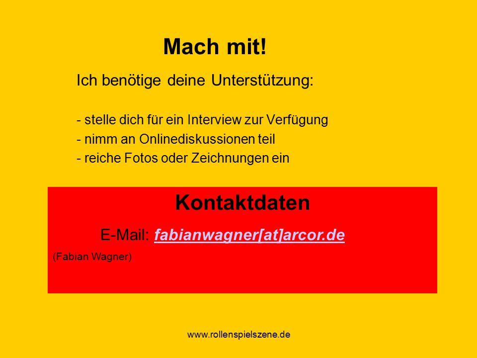 www.rollenspielszene.de Mach mit.
