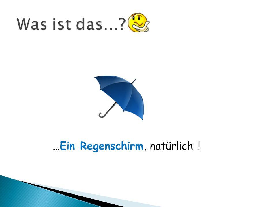 …Ein Regenschirm, natürlich !