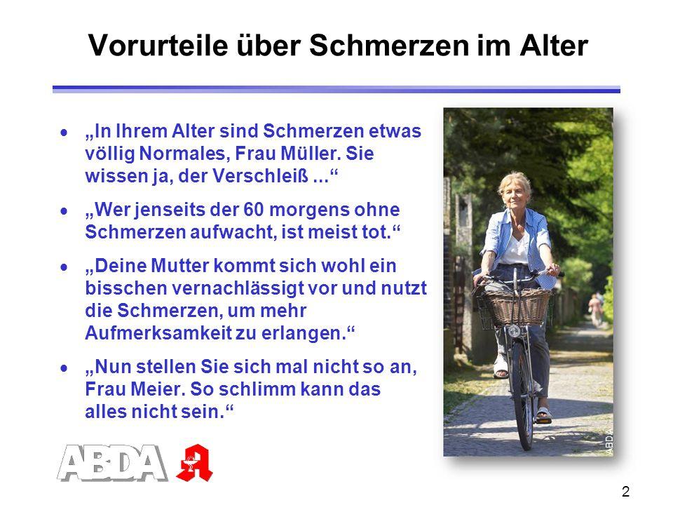 """2 Vorurteile über Schmerzen im Alter  """"In Ihrem Alter sind Schmerzen etwas völlig Normales, Frau Müller. Sie wissen ja, der Verschleiß...""""  """"Wer jen"""