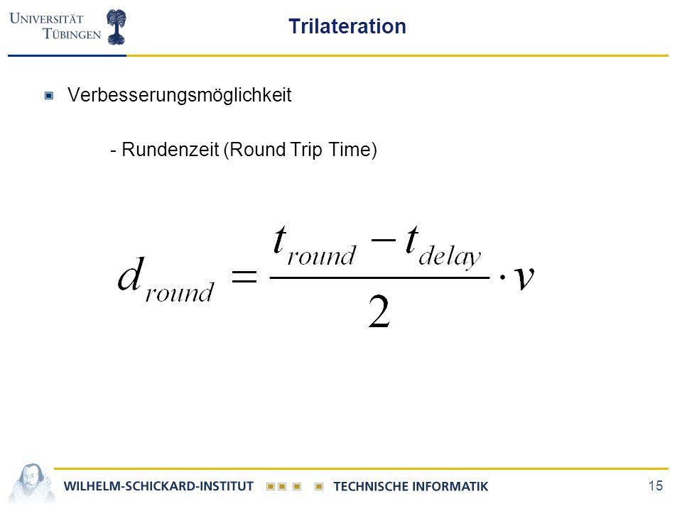 15 Trilateration Verbesserungsmöglichkeit - Rundenzeit (Round Trip Time)