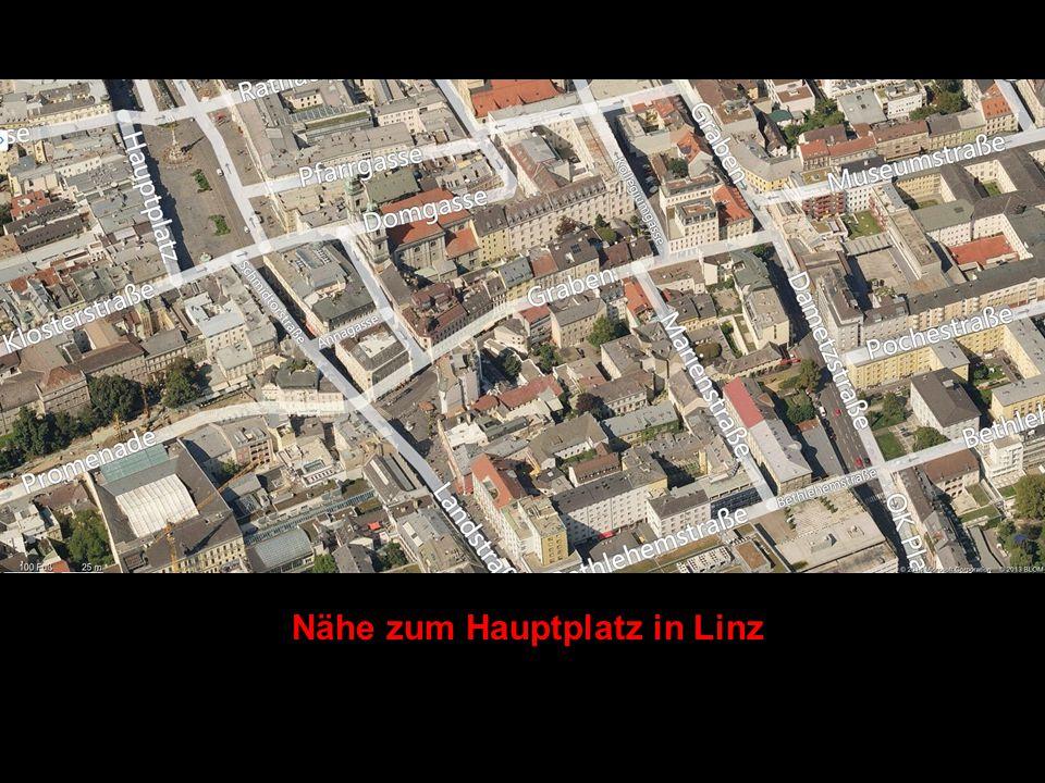 Nähe zum Hauptplatz in Linz