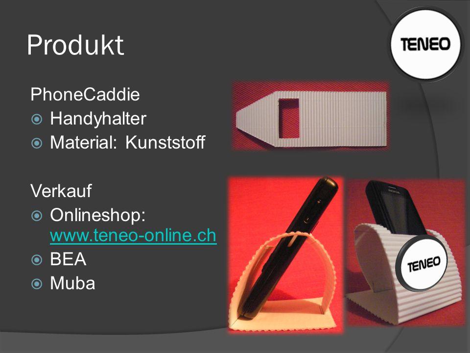 Produkt PhoneCaddie  Handyhalter  Material: Kunststoff Verkauf  Onlineshop: www.teneo-online.ch www.teneo-online.ch  BEA  Muba
