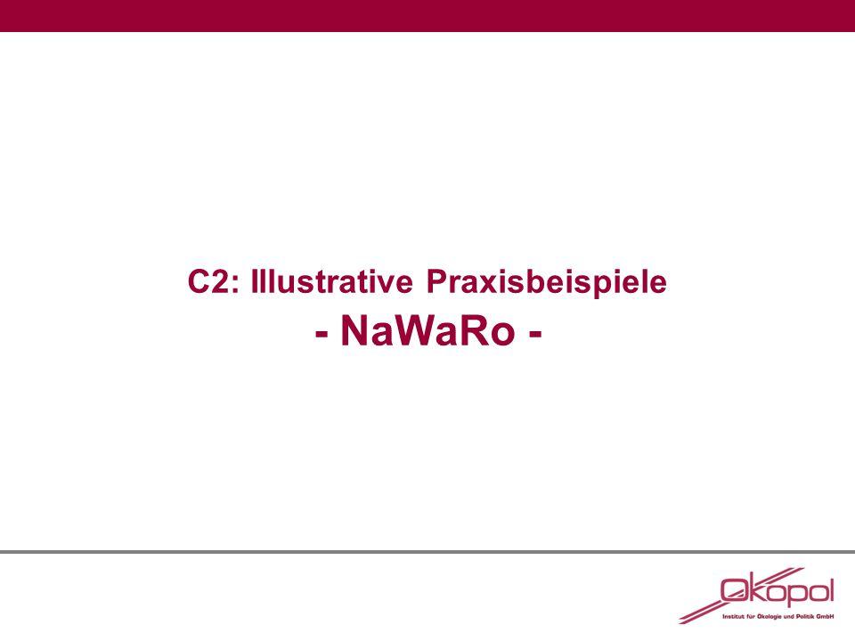 C2: Illustrative Praxisbeispiele - NaWaRo -
