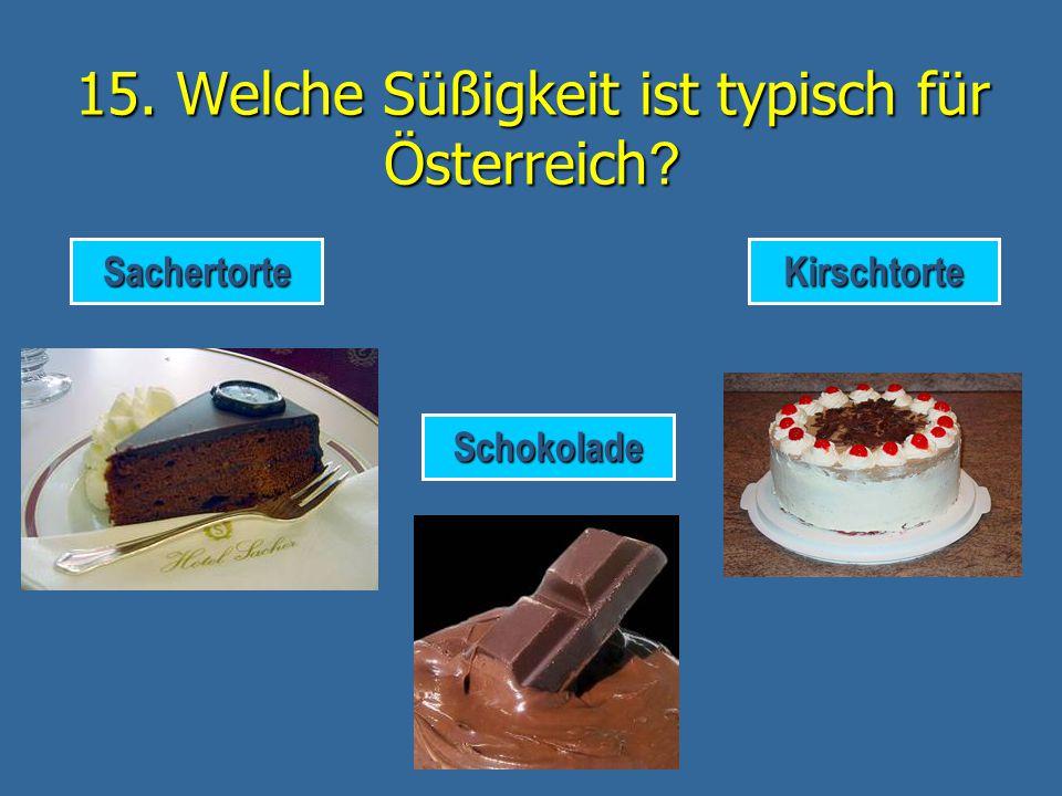 DAS IST RICHTIG! Kaffee mit Schlagsahne (= Wiener Kaffee) ist typisch für Österreich. weiter