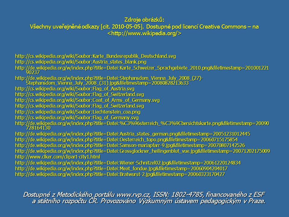 Quizbewertung: Dostupné z Metodického portálu www.rvp.cz, ISSN: 1802-4785, financovaného z ESF a státního rozpočtu ČR. Provozováno Výzkumným ústavem p