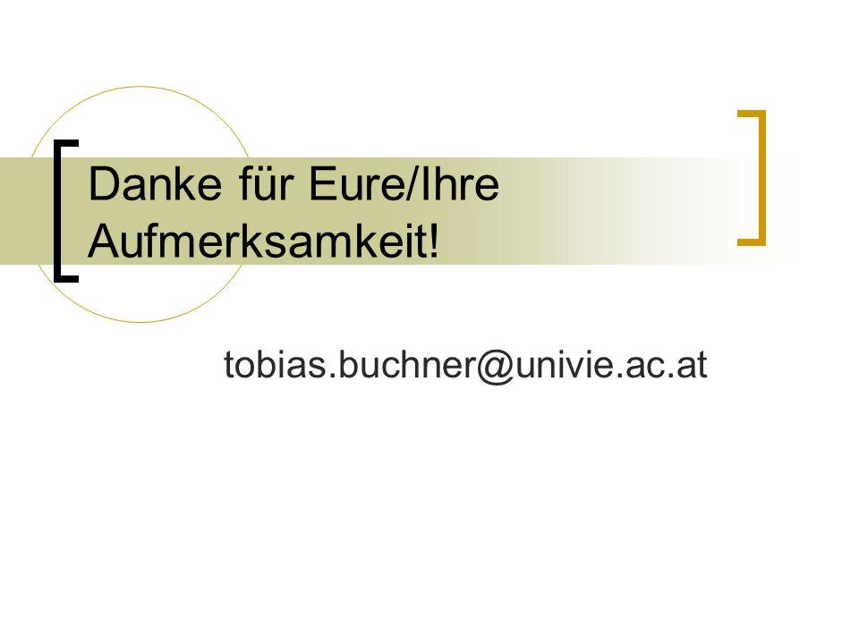tobias.buchner@univie.ac.at Danke für Eure/Ihre Aufmerksamkeit!