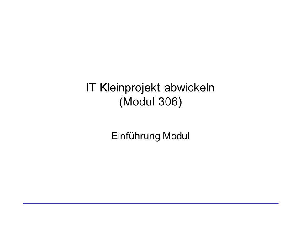 IT Kleinprojekt abwickeln, Einführung Modul (AS 2013)2 Einstieg Thema –Einführung Modul 306 –Einführung in Projektmethodik HERMES –Die Projektanmeldung Motivation –Die Grundlagen für ein erfolgreiches Semester legen.