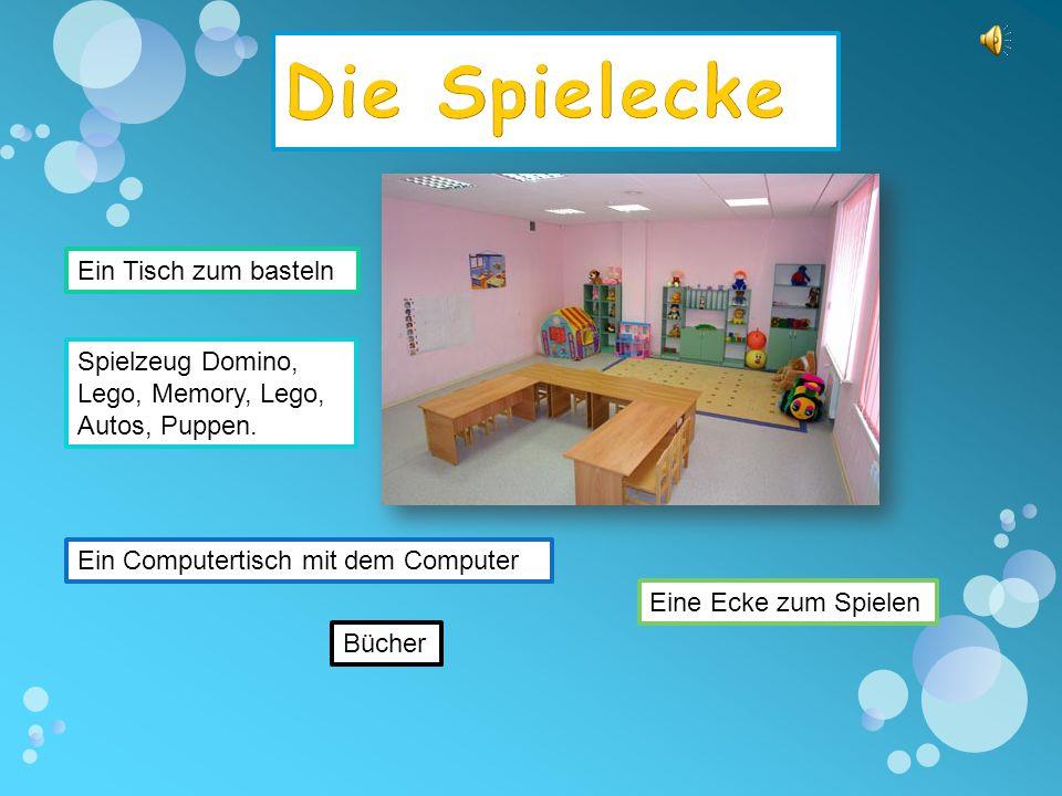 1.Die Ausstellung - выставка 2.Der Computertisch – компьютерный стол 3.Ordnung machen – наводить порядок 4.Die Gäste - гости 5.Am Computer spielen – играть на компьютере 6.Das Spielzeug - игрушки 7.Der Tisch - стол 8.Die Bücher - книги 9.Die Rechenspiele игры на счет