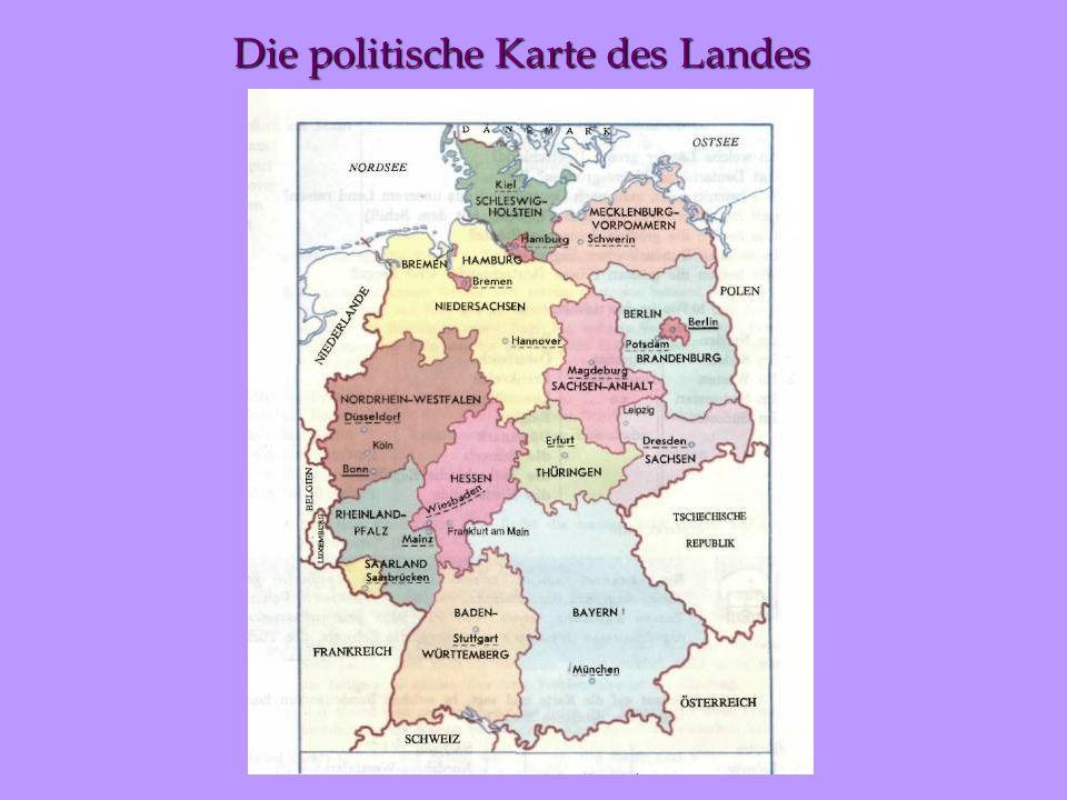 Die politische Karte des Landes