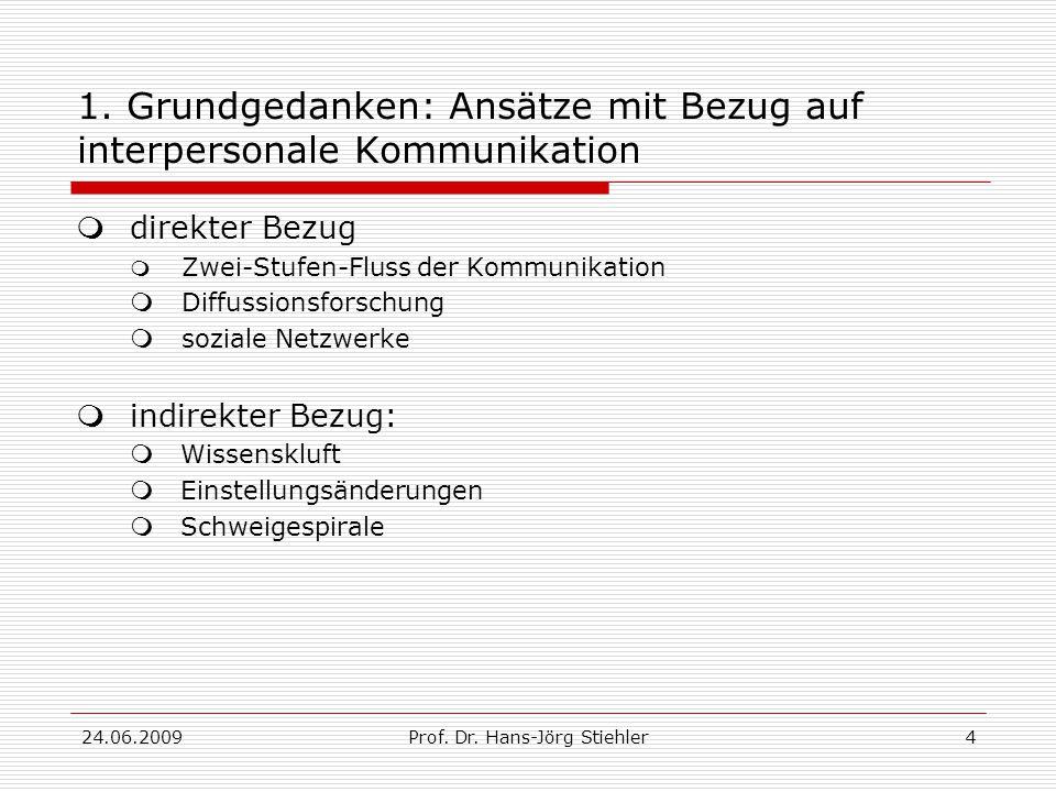 24.06.2009Prof.Dr. Hans-Jörg Stiehler5 1.