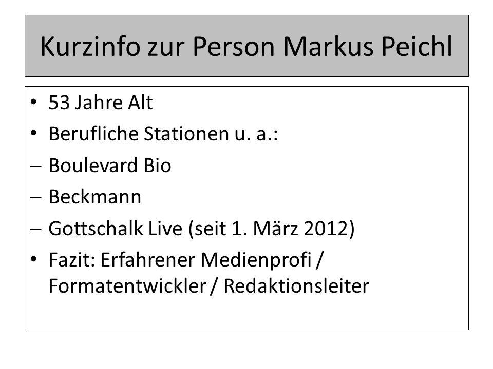 Kurzinfo zur Person Markus Peichl 53 Jahre Alt Berufliche Stationen u.