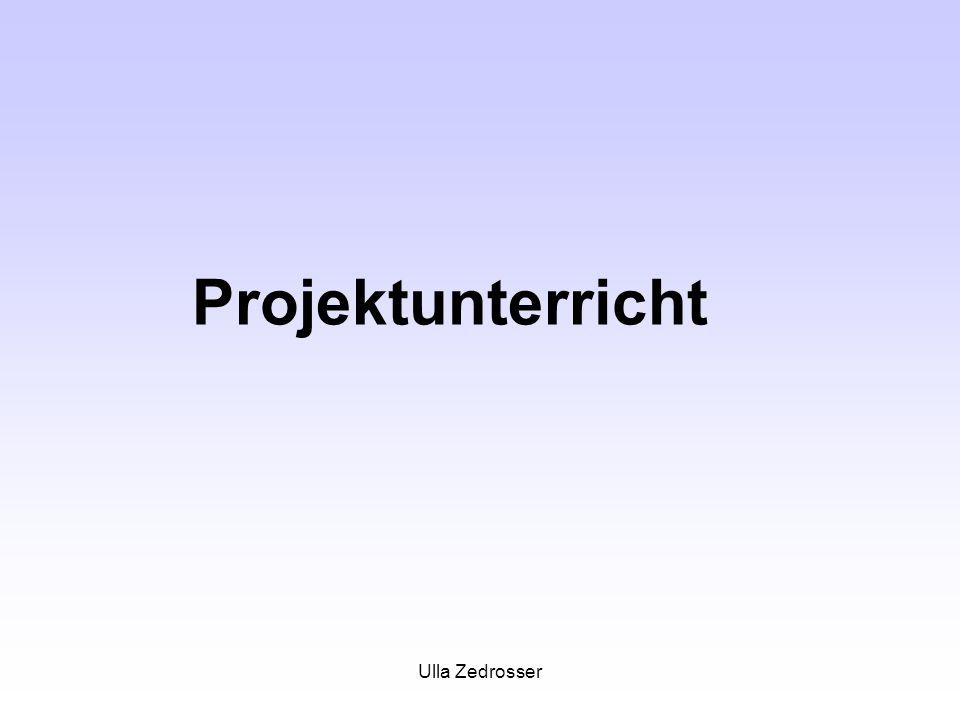 Ulla Zedrosser Projektunterricht