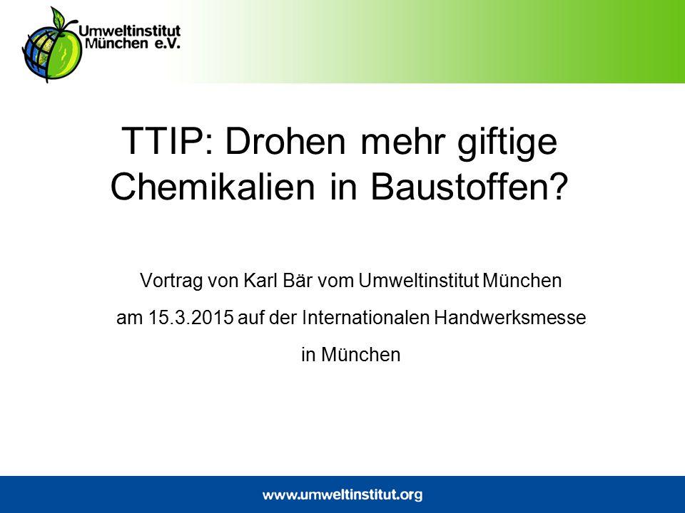 Das Umweltinstitut München Gründung im Jahre 1986 Büro in München mit 13 Festangestellten und 2 FÖJler Rund 5000 Förderer Getragen von einem gemeinnützigen Verein Unabhängig und überparteilich