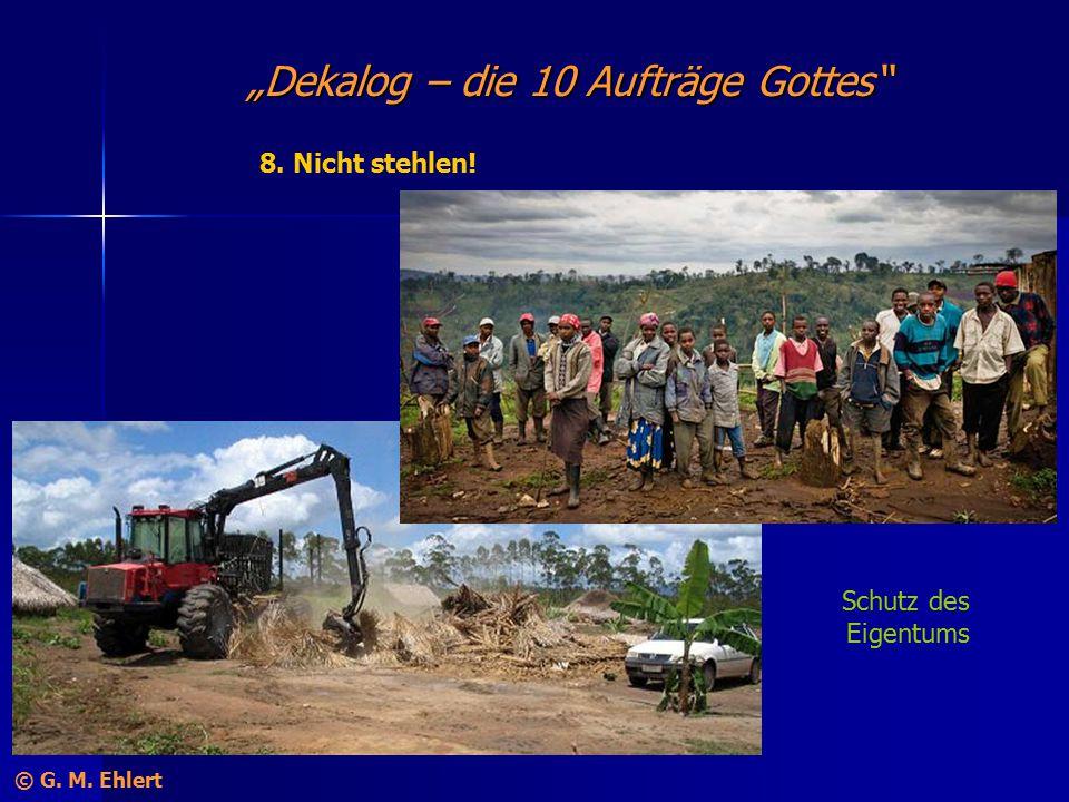 """""""Dekalog – die 10 Aufträge Gottes"""" 8. Nicht stehlen! Schutz des Eigentums © G. M. Ehlert"""