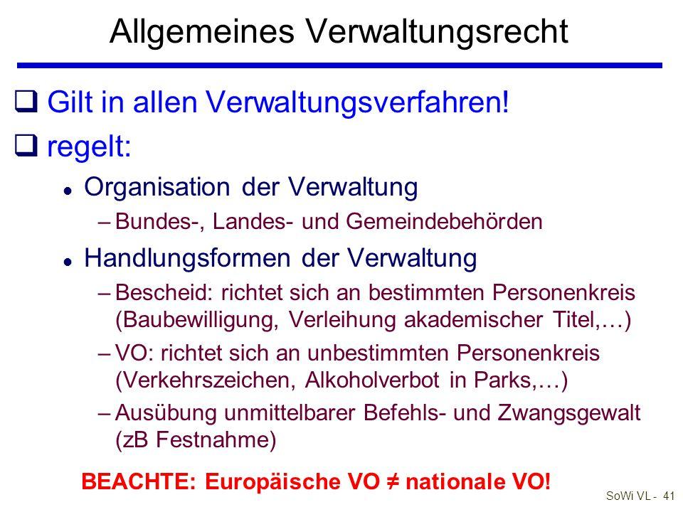SoWi VL - 40 Barta: Zivilrecht online Verwaltungsrecht