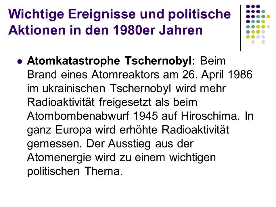 Wichtige Ereignisse und politische Aktionen in den 1980er Jahren Das Ende des «Eisernen Vorhangs»: Ungarn öffnet als erstes Ostblockland in der Nacht vom 10.