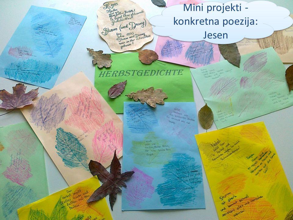 Mini projekti - konkretna poezija: Jesen