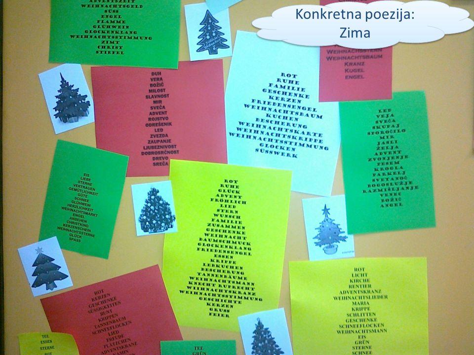 Konkretna poezija: Zima