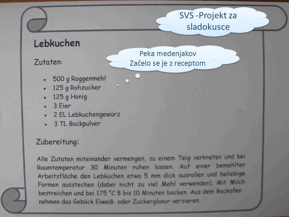 Peka medenjakov Začelo se je z receptom Peka medenjakov Začelo se je z receptom SVS -Projekt za sladokusce
