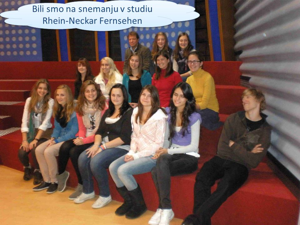 Bili smo na snemanju v studiu Rhein-Neckar Fernsehen