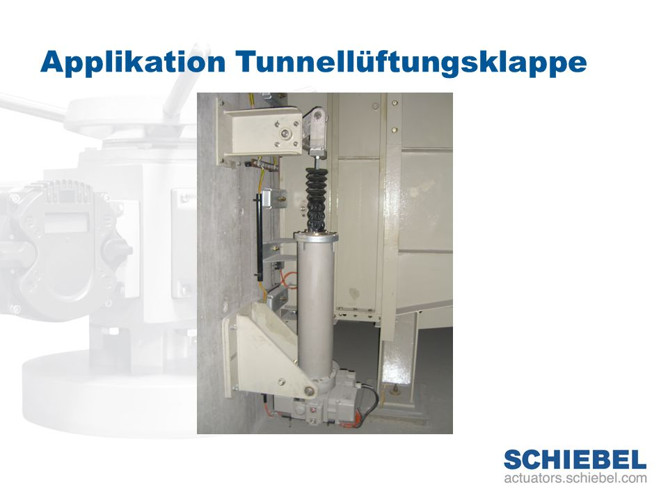 Applikation Tunnellüftungsklappe