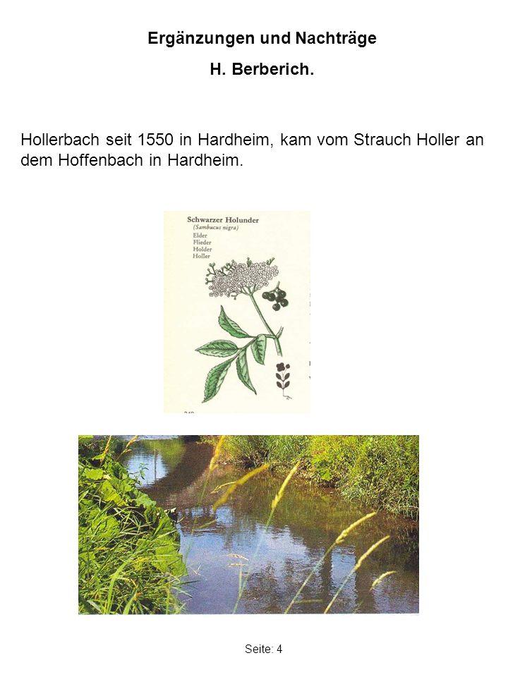 Seite: 4 Ergänzungen und Nachträge H. Berberich.