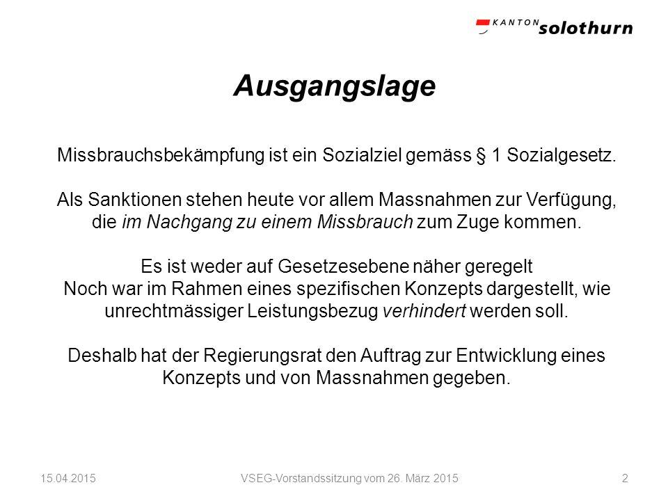 Arbeitsgruppe VSEG-Vorstandssitzung vom 26.
