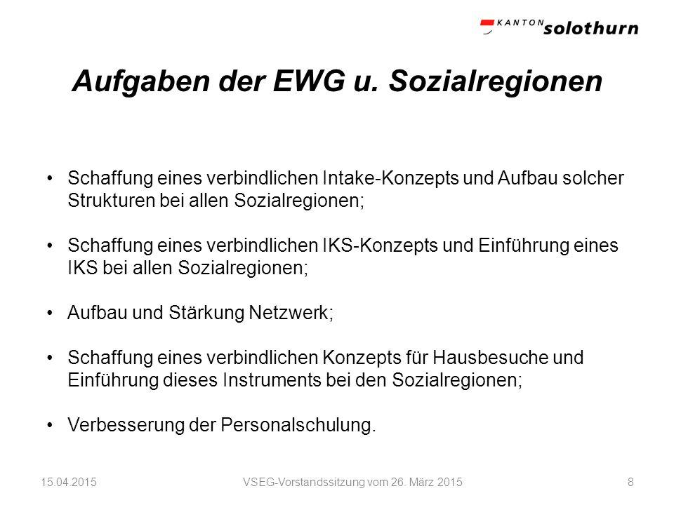 VSEG-Vorstandssitzung vom 26. März 2015915.04.2015