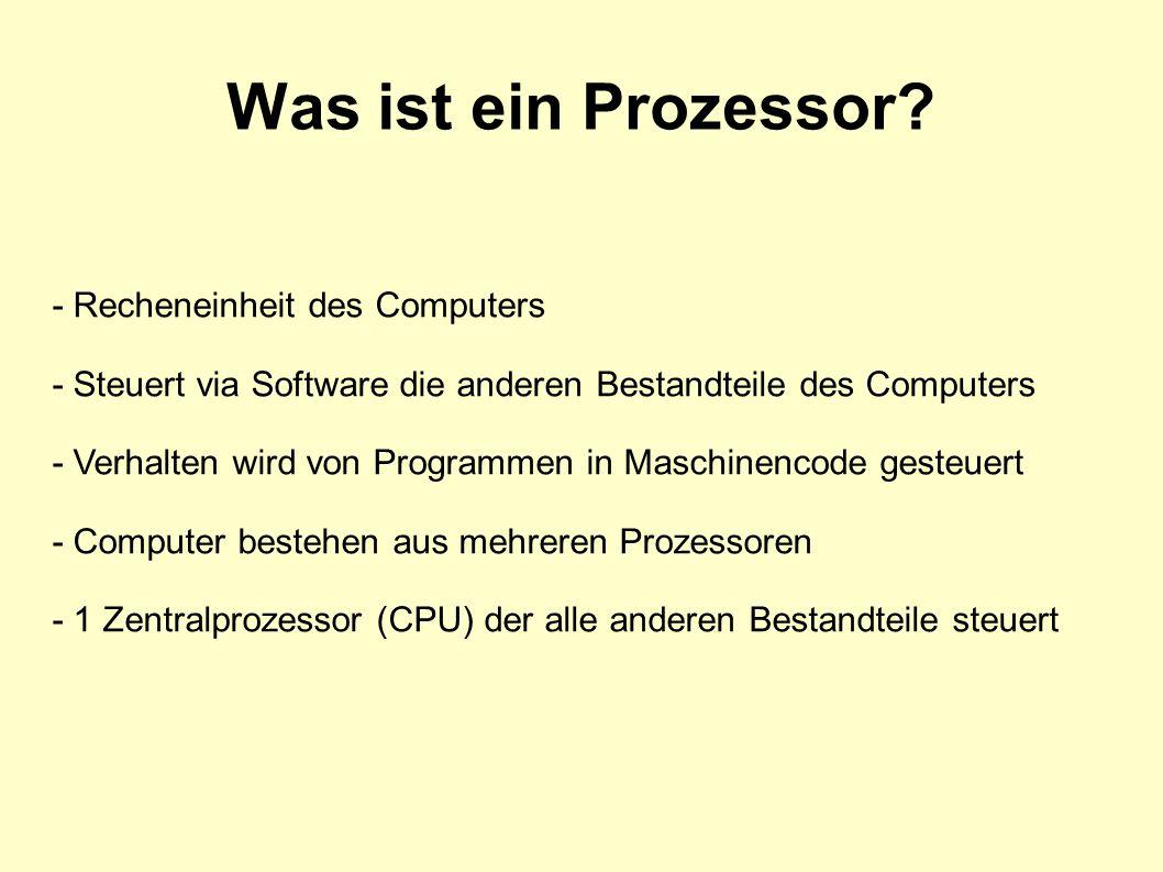 Was ist ein Prozessor.