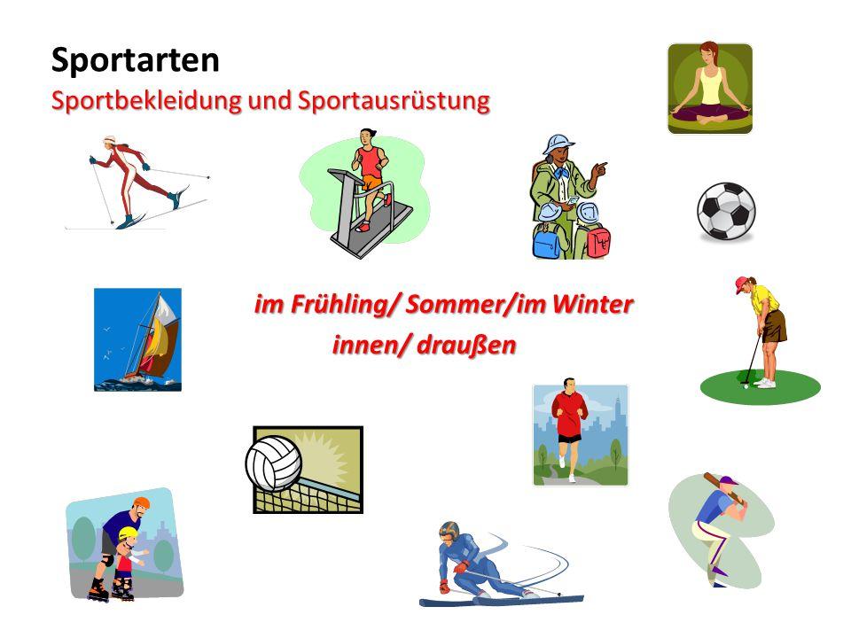 Sport in der Schule Bereitet kurze Präsentationen vor : 1.