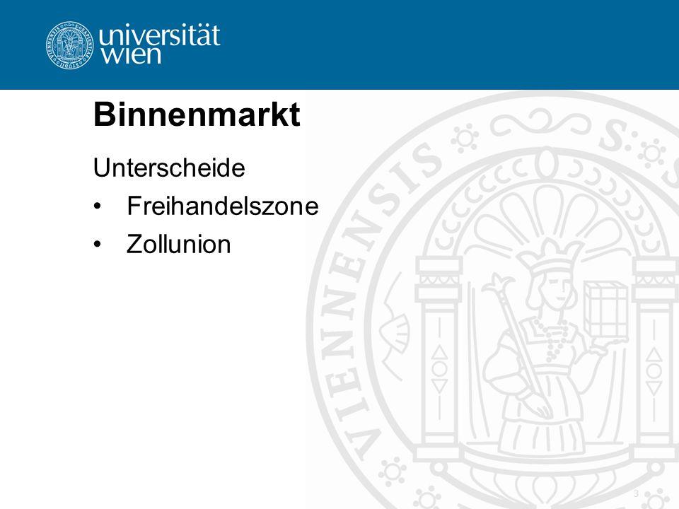 3 Binnenmarkt Unterscheide Freihandelszone Zollunion