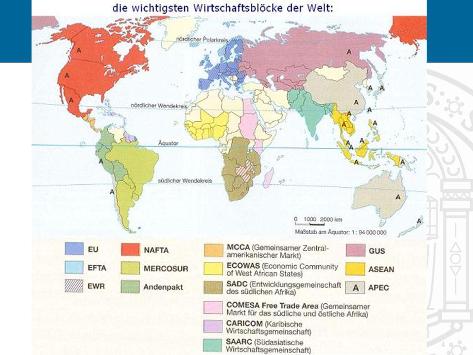 5 Unterscheide Freihandelszone Zollunion Art 26 §2 AEUV Freier Verkehr der 4 Produktionsfaktoren