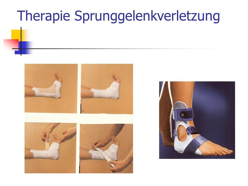 Therapie Sprunggelenkverletzung