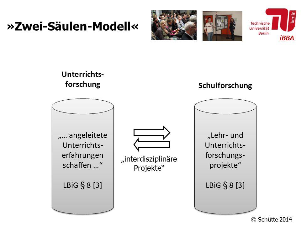 """iBBA »Zwei-Säulen-Modell« """"… angeleitete Unterrichts- erfahrungen schaffen …"""" LBiG § 8 [3] """"… angeleitete Unterrichts- erfahrungen schaffen …"""" LBiG §"""