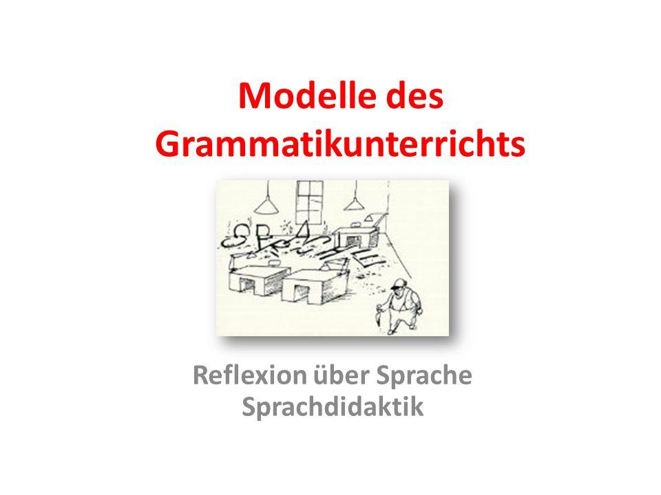 Modelle des Grammatikunterrichts Reflexion über Sprache Sprachdidaktik