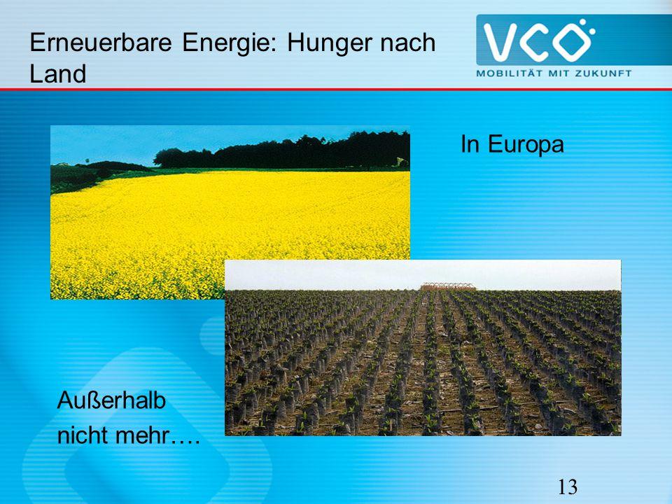 13 Erneuerbare Energie: Hunger nach Land In Europa mag es noch idyllisch ausschauen… Außerhalb nicht mehr….