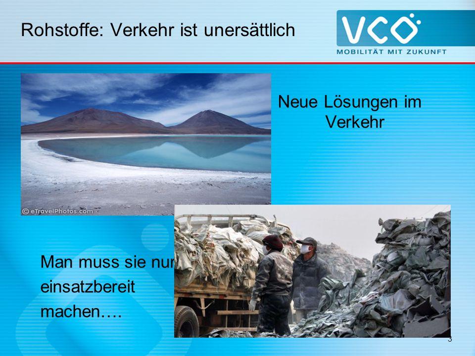 Rohstoffverbrauch Enormer Rohstoffverbrauch im Verkehr Produktion eines einzigen Autos (1,5 t Masse) werden 70 t Rohstoffe benötigt  Metalle, Energie, Wasser Der Materialverbrauch für Pkw in Österreich hat sich seit den 1960er Jahren verzwanzigfacht.